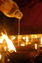 Free Hindu Festival Oil Lamp Stock Photo - 32415200