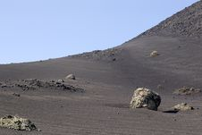 Free Volcanic Landscape Of Timanfaya, Lanzarote Royalty Free Stock Photos - 32410058
