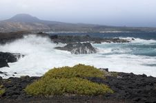 Stormy Weather On Lanzarote Royalty Free Stock Photography