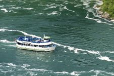 Free Boat On Niagara River Royalty Free Stock Photo - 32414785