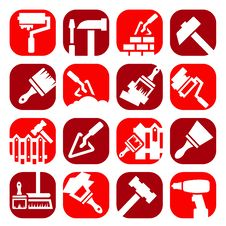 Free Color Construction And Repair Icons Stock Image - 32415031