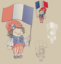 Free Cute Smiling Cartoon Boy In Sans Culottes Costum Royalty Free Stock Image - 32427646