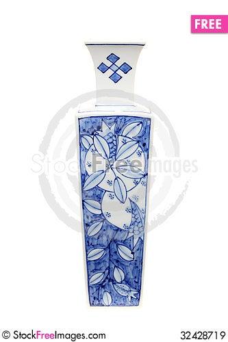 Free Asian Vase Royalty Free Stock Images - 32428719