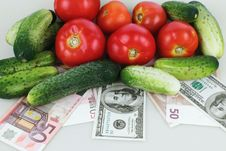 Vegetables As A Symbol Of Healthy Eating And Good Business Stock Image