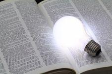 Free Illuminated Light Bulb Stock Image - 32421951