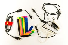 Free Colorful Marker Straps With Wire And Cables Royalty Free Stock Photography - 32430607