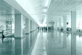 Free Travel Concept. Passengers In The Modern Airport Terminal Waitin Stock Images - 32454234