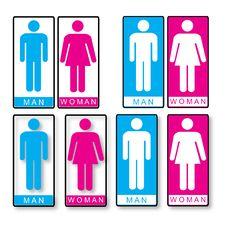 Toilet Symbols Royalty Free Stock Photo