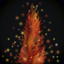 Free Different Fire Flames On A Black Background With Royalty Free Stock Images - 32459179