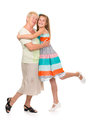 Free Grandmother With Her Granddaughter In The Studio Royalty Free Stock Photography - 32469147
