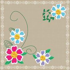 Free Cute Floral Background For Your Design, Cover, Pre Royalty Free Stock Images - 32461309