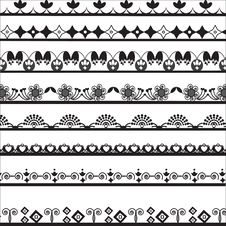 Free Collection Of Different Lace For Design Stock Photos - 32461333