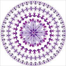 Free Circular Floral Ornament Royalty Free Stock Photo - 32461345