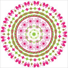 Free Circular Floral Ornament Royalty Free Stock Images - 32461379