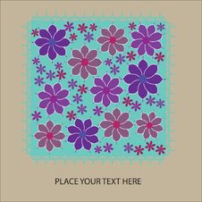 Free Cute Floral Card With Place For Your Text Royalty Free Stock Image - 32462216