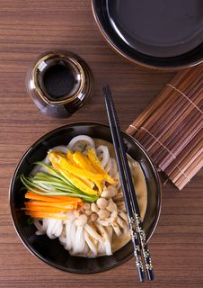 Free Japanese Udon Noodles Royalty Free Stock Photos - 32462428