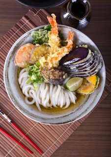 Free Japanese Udon Noodles Royalty Free Stock Photography - 32462437