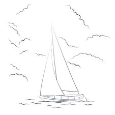 Free Boat Sketch Stock Images - 32469004
