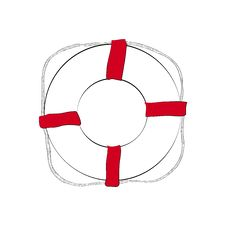 Free Life Buoy Sketch Stock Image - 32469021