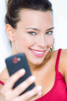 Free Cute Brunette Woman Taking Photo Of Herself Royalty Free Stock Photo - 32469065