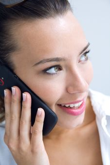Free Woman Talking On The Mobile Phone Royalty Free Stock Image - 32469066