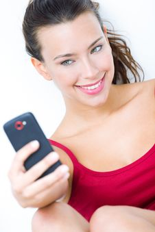 Free Cute Brunette Woman Taking Photo Of Herself Royalty Free Stock Image - 32469896