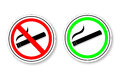 Free Sign - No Smoking And Smoking Area Royalty Free Stock Photography - 32471267