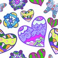 Free Funny Seamless Background With Heart, Butterfly Stock Photo - 32476470
