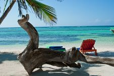 Free Colorful Beach Chairs Royalty Free Stock Photos - 32474288