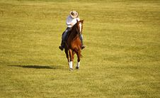 Free Cowgirl On Her Horse Royalty Free Stock Image - 32475106