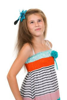 Free Portrait Of 11 Year Old Teenage Girl In Studio Royalty Free Stock Images - 32488859