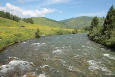 Free Mountain River In East Kazakhstan Stock Image - 32489061