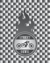 Free Street Chopper Motorcycle Label Art Stock Photos - 32492543