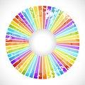 Free Vintage Rainbow Round Postcard Royalty Free Stock Photography - 32499447
