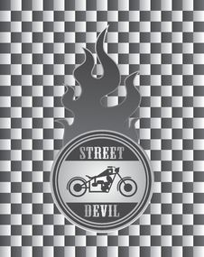 Free Street Chopper Motorcycle Label Art Stock Photos - 32492543