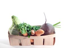 Free Vegetables In The Basket Stock Photos - 32494183
