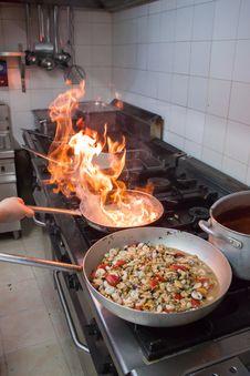 Free Pizzeria Kitchen Royalty Free Stock Photos - 32495218