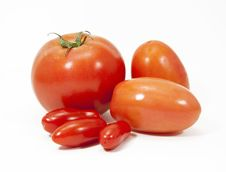 Free Three Types Of Tomatoes Stock Image - 32496231