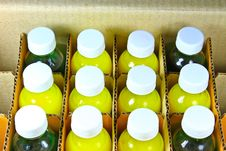 Free Bottles In A Cardboard Box Stock Photos - 32498833
