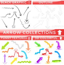 Free Arrow Collection Of Four Different Set Royalty Free Stock Photography - 32498937
