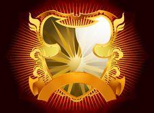 Free Gold Shield Design Royalty Free Stock Photos - 32498948