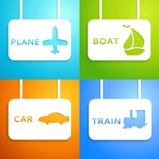 Free Travel Applique Background. Vector Illustration Stock Images - 32498984