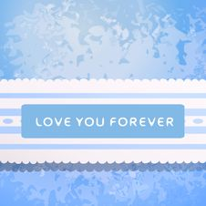 Free Lace With Declaration In Eternal Love. Royalty Free Stock Photography - 32499607