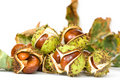 Free Chestnuts Close Up Isolated Stock Images - 3254614