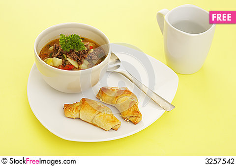 Free Lunch Soup Stock Photography - 3257542