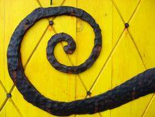 Free Ornate Door Hinge Royalty Free Stock Photo - 3251805