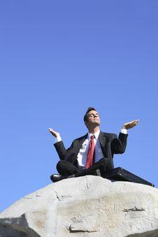 Free Businessman Meditating Royalty Free Stock Photography - 3252307