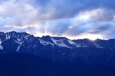 Sunset In Meili Snow Mountains Stock Photography