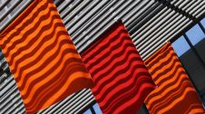 Red And Orange Flags Royalty Free Stock Photos