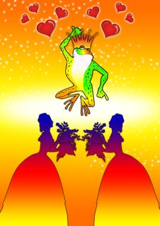 Free Frog In Orange Stock Image - 3253691